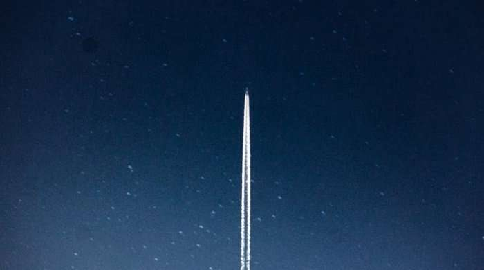 ship flying in space