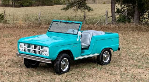 """Super Rare 1966 Ford Bronco """"Roadster"""" Will Be Auctioned by GAA Classic Cars"""