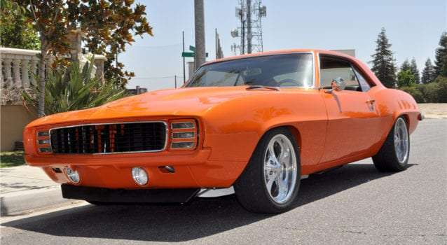 GAA Classic Cars Auctioning Tangelo Pearl 1969 Camaro RS at November Event