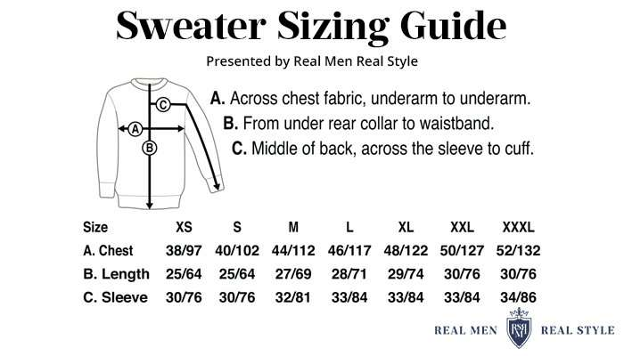 sweater sizing guide
