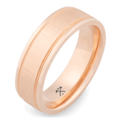 mens rose gold ring