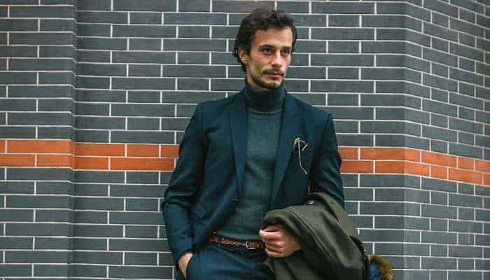 turtleneck with a suit - the best things for men to buy