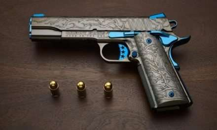Cabot Guns' New Blue Scorpion 1911 is a One-of-a-Kind Wonder