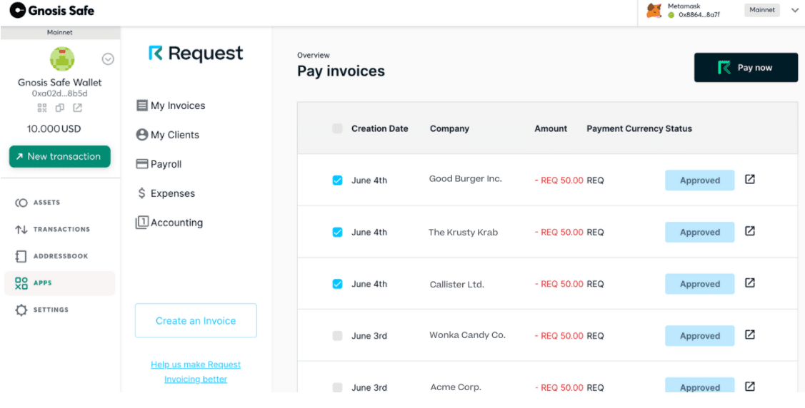Crypto payments platform Request adds batch payout feature
