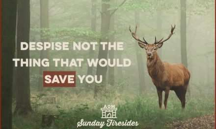 Sunday Firesides: Despise Not the Thing That Would Save You