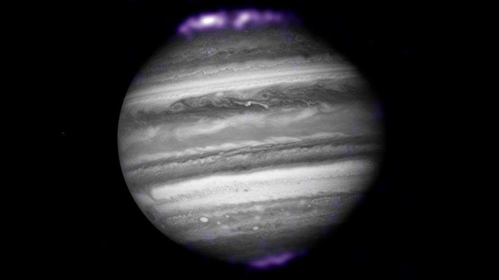 Image of auroras on Jupiter, as seen in X-ray by Chandra, one of NASA's X-ray telescopes, in 2007.