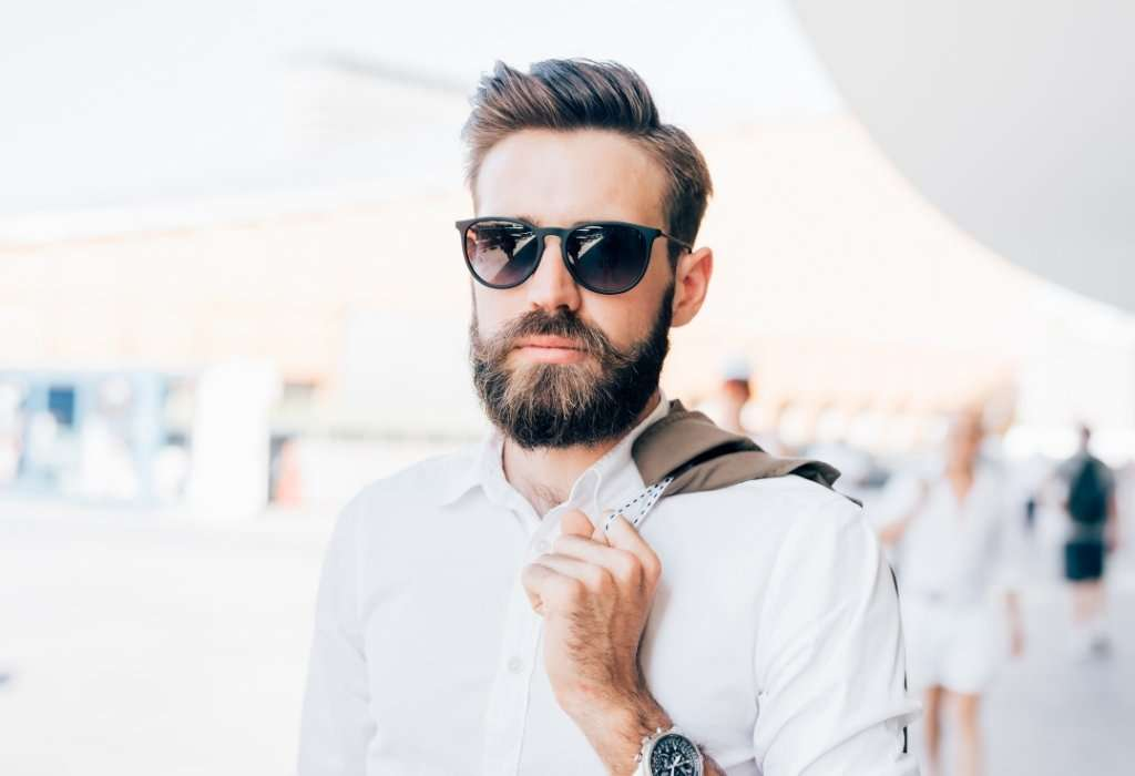 Man In Sunglasses Sharp Hairstyle Knows How To Look Cool