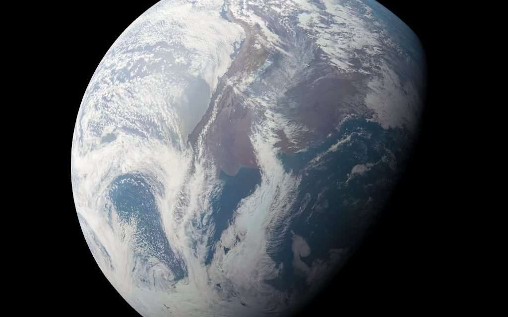 This is the View From Juno During its Flyby of Ganymede and Jupiter
