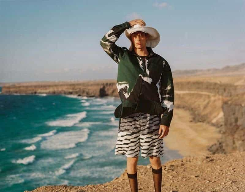 Yeray Allgayer Faces 'Wavy Winds' for GQ Portugal