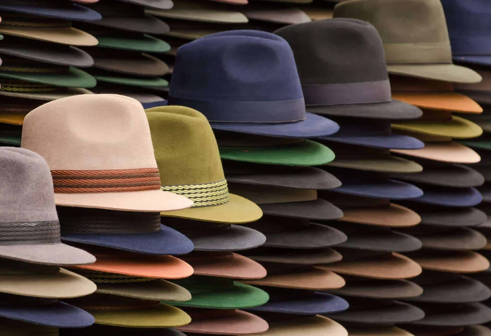 selection of mens hats