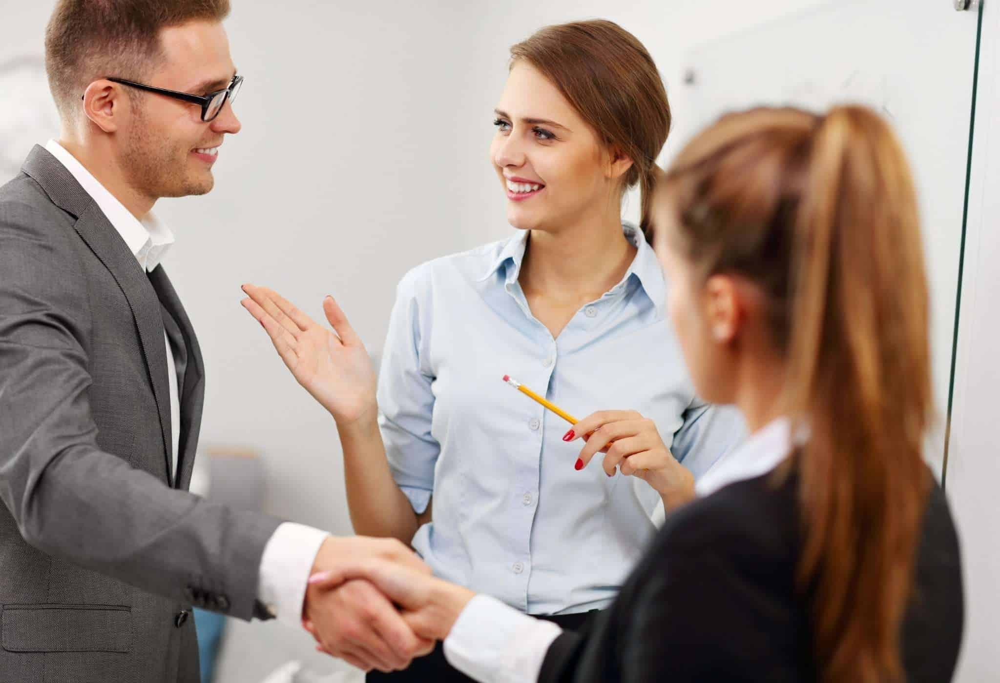man being introduced knows how to talk to women