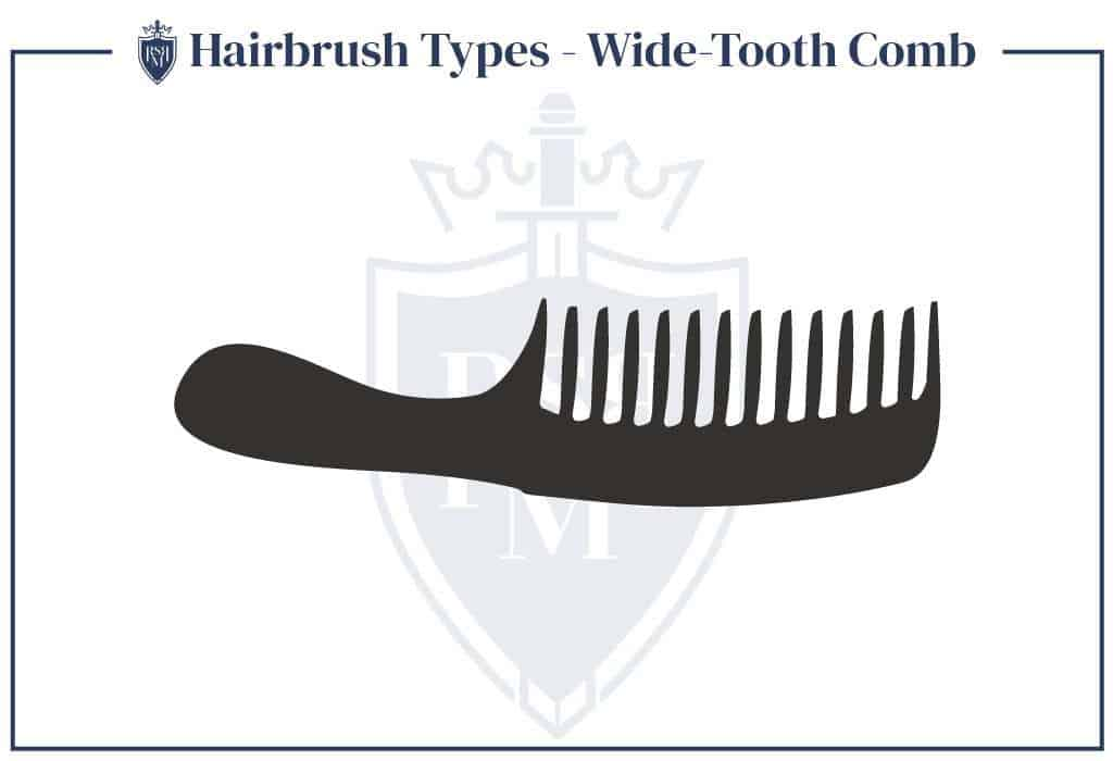 Infographic-Hairbrush-Types-Wide-Tooth-Comb how to brush men's hair