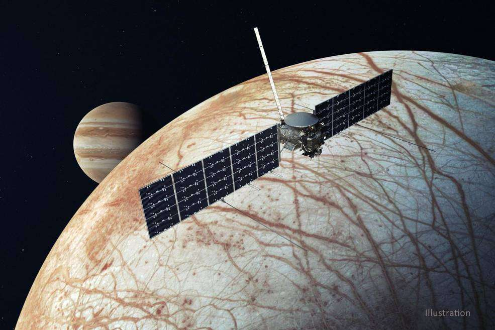 Another artist's illustration of Europa Clipper