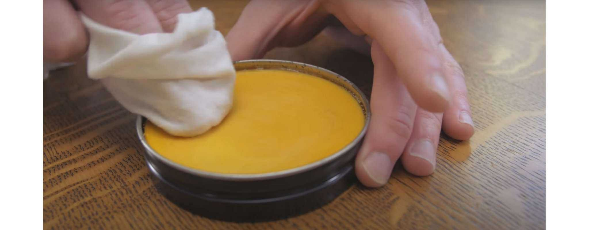 cleaning leather boots with saddle soap